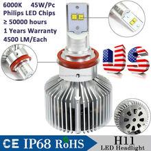 Factory Newest Wholesale price 9000LM adjustable H11 led headlight Auto