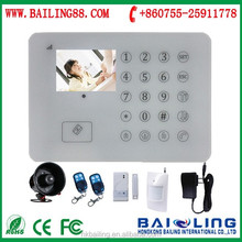 High quality gsm alarm system download Android / IOS APP smart home security alarm system with TFT color touch screen display