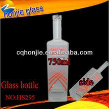 2014 botellas de vino de vidrio esmerilado decoración fábrica profesional