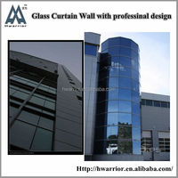 Hwarrior Wall Cladding Panels Exterior Low-E Glass Decorative Design Curtain Wall