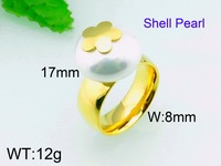 12g Wholesale Brazil Jewelry 18 Karat Gold Plated Pearl Ring