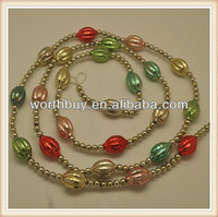 Antique glass christmas ball garland with colorful pumpkin ornaments from Shenzhen factory