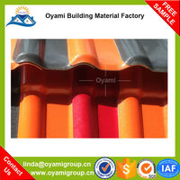 Advanced Materials multi color blue glazed roof tile for construction