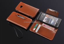With Lanyard Magnet Flip Wallet Stand Leather Case Cover For HTC ONE M7