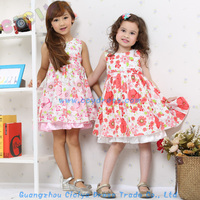 Beautiful baby girls frock designs cotton summer flower frocks for party baby girls frocks