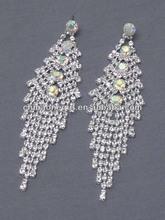 Crystal and rhinestone bridal earring