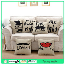 The most popular digital printed 100% cotton cushion covers,animal design with customer's request