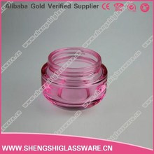 50g hot sale unique red cosmetic cream glass jar with cap