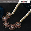 personalized latest design beads necklace 925 sterling silver jewelry wholesale