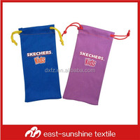 custom logo printed microfiber cleaning mobile camera pouch