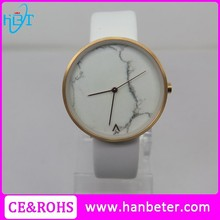 2015 New stylish 5ATM water resistant watch custom brand watch with marble face