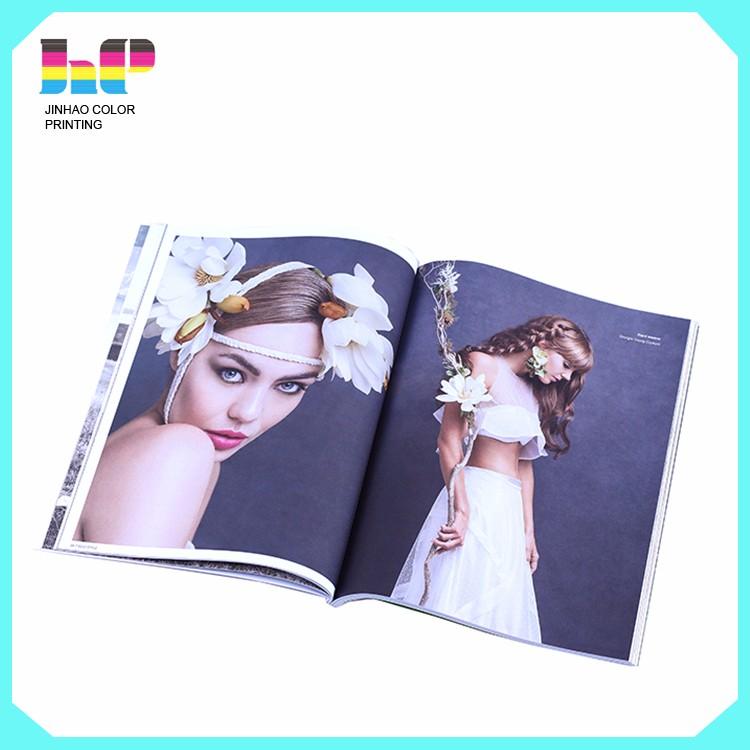 Wedding photo album printing,perfect bound Wedding photo album printing,Full color beautiful dress perfect bound Wedding photo album printing