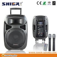 Portable active pa speaker with 12V/7A rechargeable battery,High level pa speaker system trade assurance