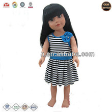 OEM dress up vinyl Chinese doll with lack long hair ICTI ,ISO ,BV certificates
