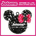 2014 moda jóias pink dot bow mickey/minnie para colar