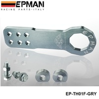 EPMAN Universal All Model Car Trailer Hook Aluminum Tow hook Towing Racing front (Default Color is Gray) EP-TH01F-GRY