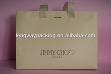 Popular Printed cream Shopping paper Bag for Shoes / Gift