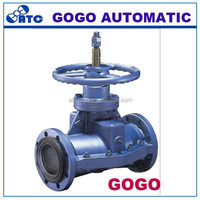solenoid pneumatic rubber pinch valve in china