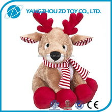 new style soft polyester animated christmas plush toy monkey