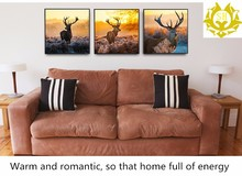 Hot selling watercolor printed frameless painting