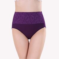 New Arrival High Waist Panties Women Natural Cotton Underwear Fashion Design Women Briefs Ladies