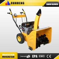 Snow removal equipment with snow chain