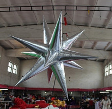 1.5m silver christmas decoration inflatable star W237