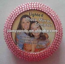 plastic lighted cosmetics mirror, promotional makeup mirror, photo frame makeup mirror