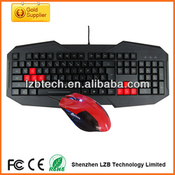 high quality Wired keyboard and mouse set, computer accessories