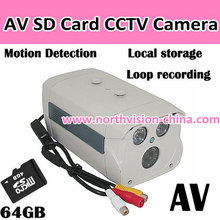 Sd card dvr with loop recording and AV/TV out function