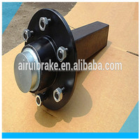 axle shaft - Axle stub 60mm square solid complete with wheel hub