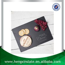 Best Quality Handmade Cheap Natural Edge 35*25*0.5cm Rectangular Black Customized Laser Engrave Dark Black Cheese Board