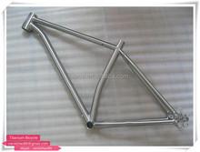 Titanium fat bike frame fat frame with hand brush customize