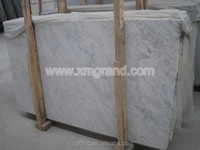 Bianco carrara white faux marble slabs for bathroom and decorative pebble or paving stone