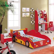 Kids bedroom furniture single bed in car shaped cartoon furniture racing car bed