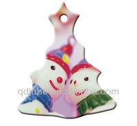 sublimation blank Polymer Christmas ornaments