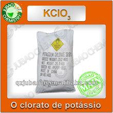 99,5% antiespumantes material de fogos de artifício KCLO3 fabricante clorato de potássio