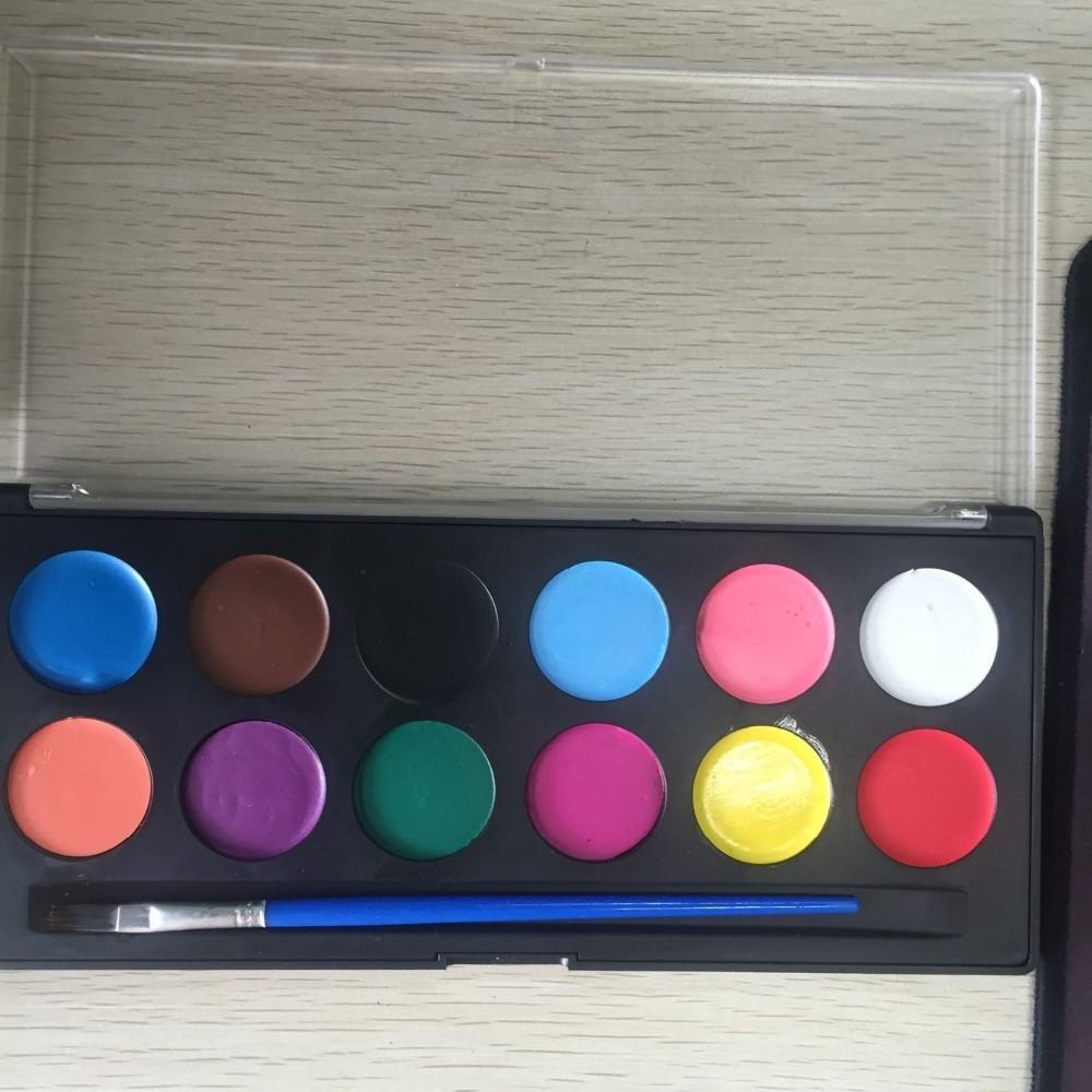 Visage corps peinture art maquillage palette set kit for Peinture palette