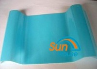 wave roof transparent roof tile