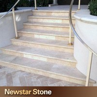 Us standard honed beige color limestone steps prices