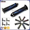 "BJ-HB-049 Aftermarket Universal Blue 7/8"" Aluminum Bar Ends Soft Rubber Grips Motorcycle Hand Grips"