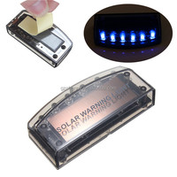 Excellent Quality 6 LED Auto Solar Charger Car Burglar Alarm Warning Blue Light Lamp Sensor Security