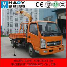 mini hydraulic crane with truck 2 knuckle booms radio control for sale