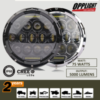 75w 7 inch led driving light for jeep wrangler led driving light motorcycle with high low beam DRL fuction