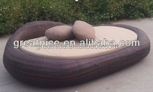 2014 New Style Outdoor Rattan Furniture Oval Day Bed