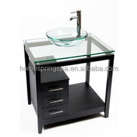 "2013 clear tempered glass vanity top 31""x22"" in stock"