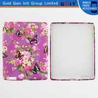 Beautiful Flower Design Leather Decal Case For iPad 2