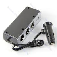 Прикуриватель в авто USB 3 Socket