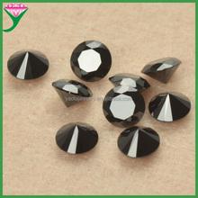 Wholesale high quality small size Black round brilliant cut cubic zirconia gemstone