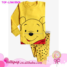 2015 Hot sale Winnie wholesale childrens clothing cute baby kids outfits
